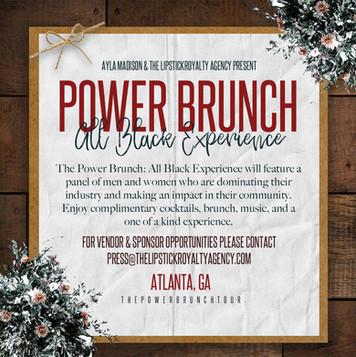 Power Brunch Social Media Flyer