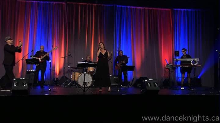 Orchestre sur scène lors d'un événement corpo à Montréal