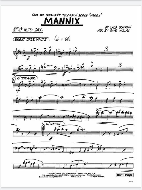 Theme from Mannix - Big Band chart & sheet music arrangement