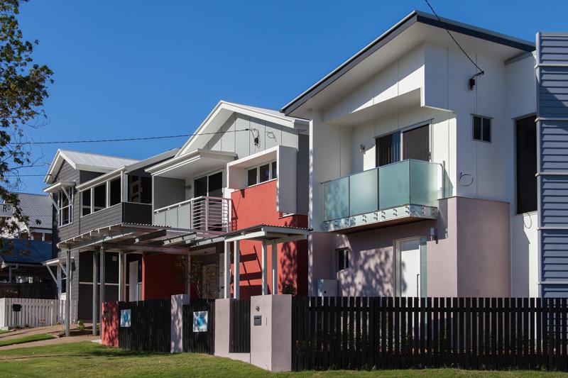 Town Houses, Wilston, Brisbane, unique design