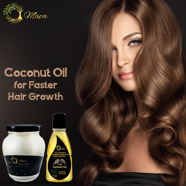 Coconut Oil From Mapa For Faster Hair Growth