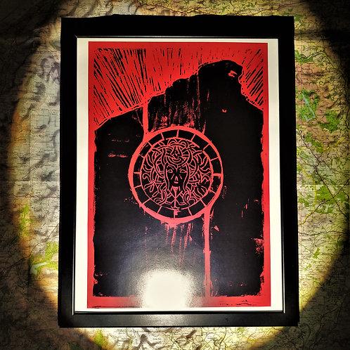'BOX 'ELUSIVE MEDUSA' ART PRINT (A3)