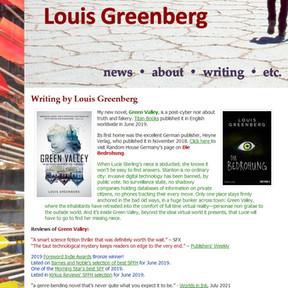 Louis Greenberg writer website