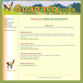 Guanaco services website