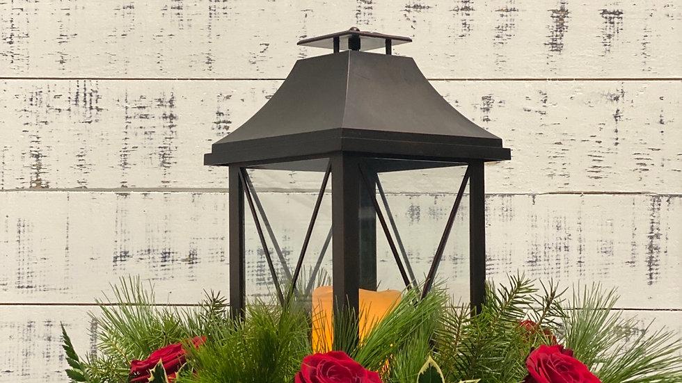 Lantern w/ Roses