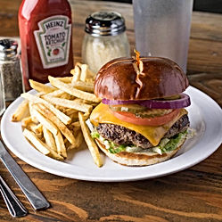 Best burger from Scoreboards Pizza & Grill in Roseville, CA and Granite Bay.