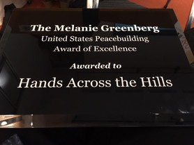 Domestic Peacebuilding Award to Hands Across the Hills