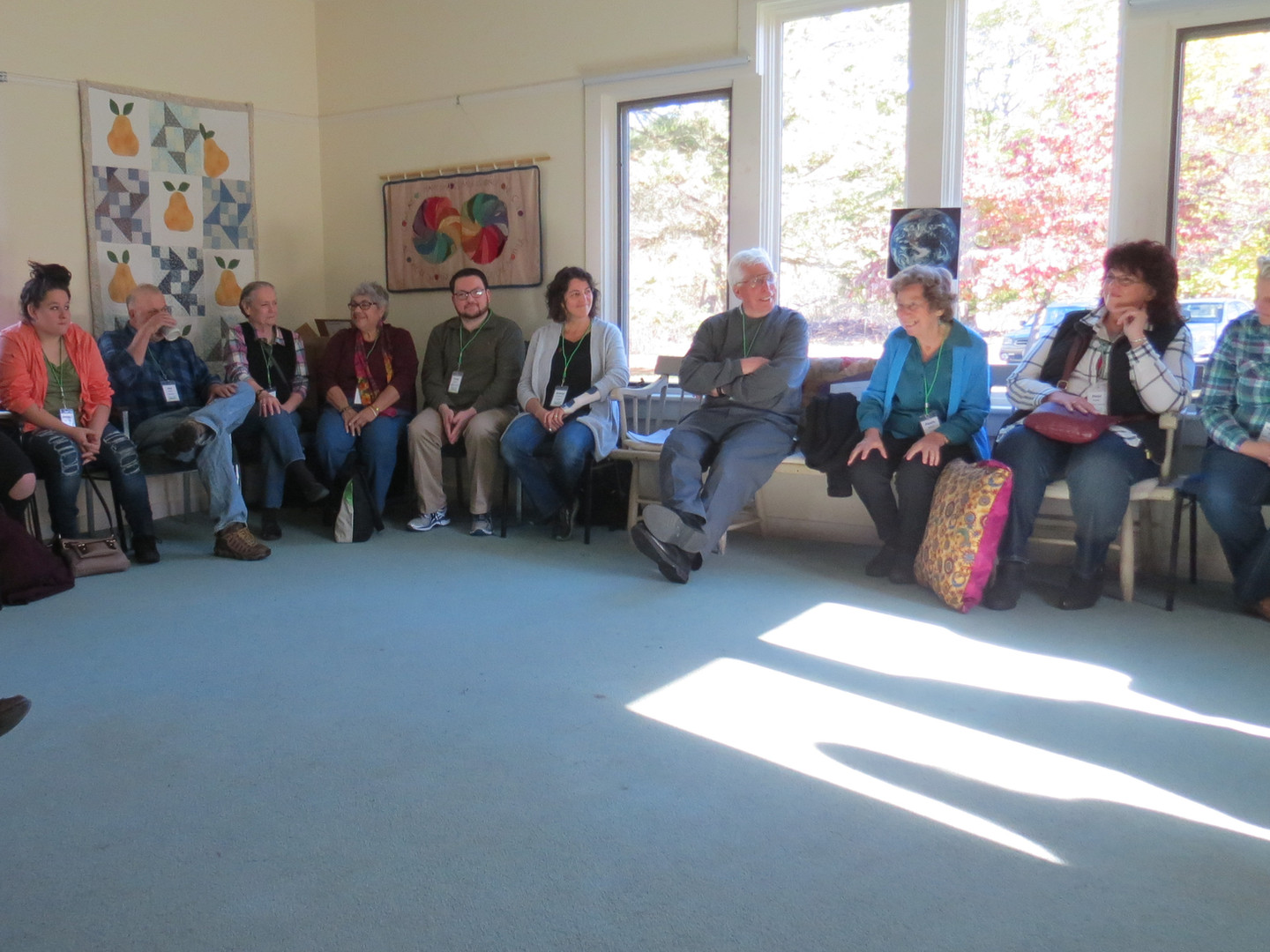 First whole meeting Friday morning at Leverett Friends Meeting