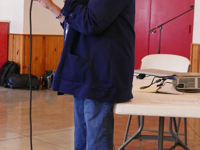 Carol Ison speaking at Shriners