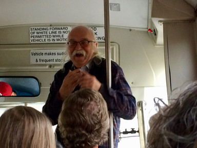 Herby narrates the bus tour with his outstanding command of the history of the region