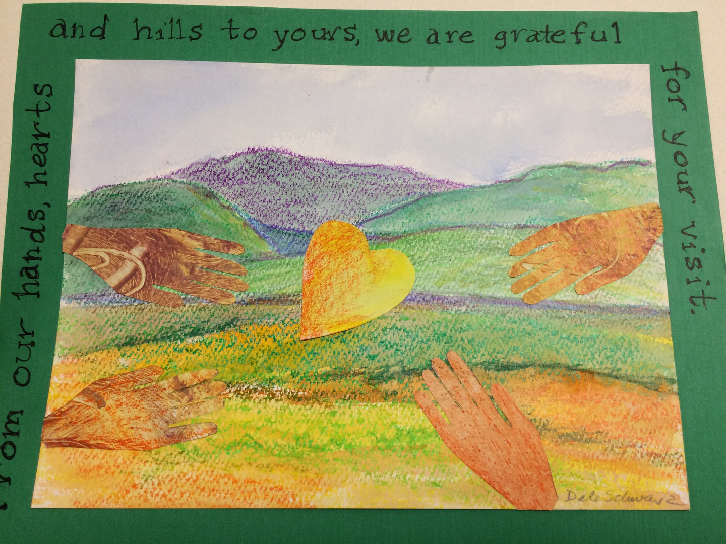 Thank-you card for Kentuckians created by Dale Schwarz