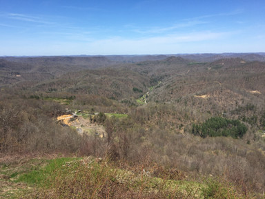 View of the hollers from Pine Mountain