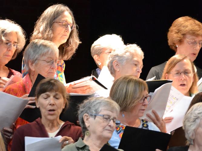 Leverett Chorus performs at Community Forum