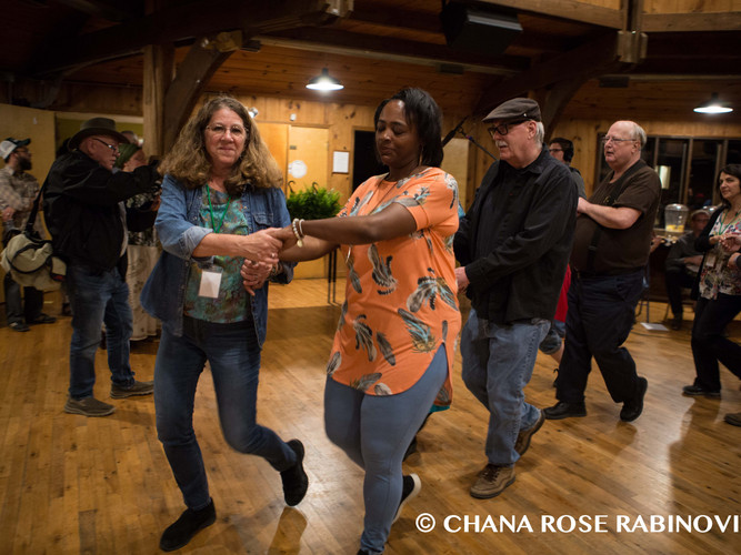 Square dancing at the Cowan Community Center