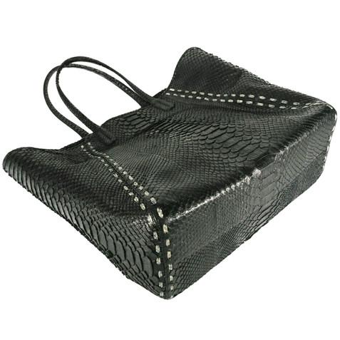 Genuine python skin handbag/Tussy Leather