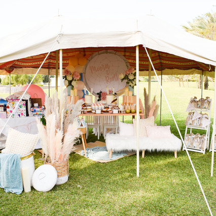 Glamping Themed Party