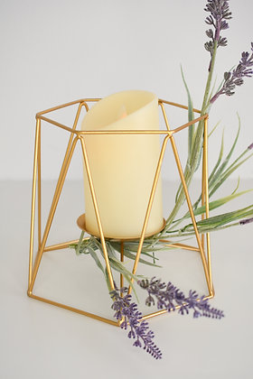 Candle Holder with LED light included and lavender