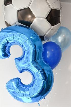Soccer's Balloons Bouquet