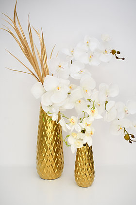 Set of jars with White Orchids