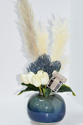 Real Touch Flowers Arrangement with Box of Dates