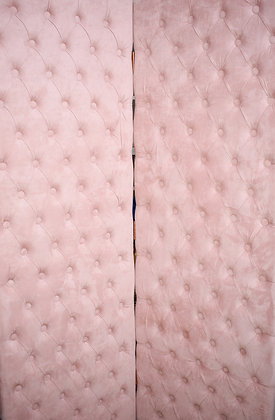 Pink Suede Partition with 3 Sections