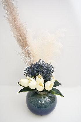 Flowers Arrangement in Ceramic Pot