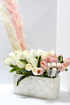 Real Touch Flowers with Box of Dates