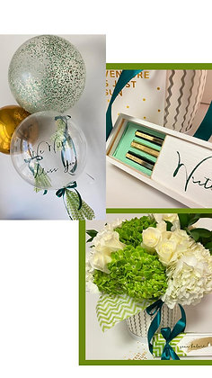 Personalised Gift, Flowers, Balloons & Greeting Card