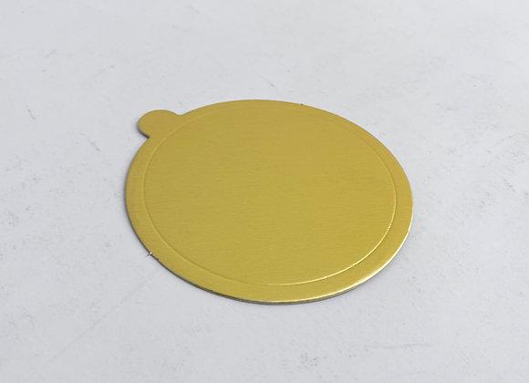 תחתית עגולה זהב/כסף עם לשונית