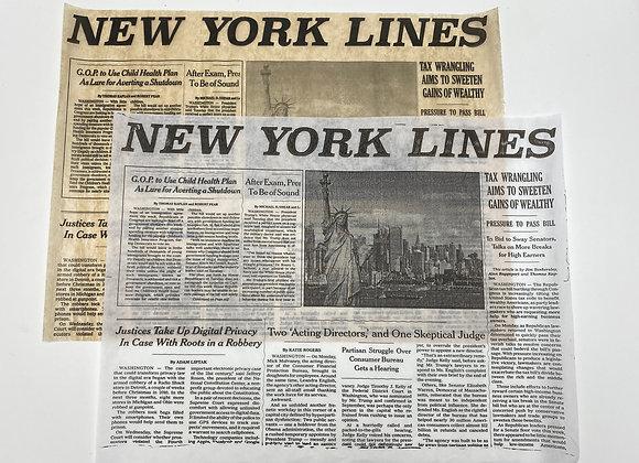 נייר עיתון מודפס -ניו יורק