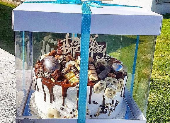 קופסא שקופה לעוגה גבוהה