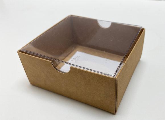 תחתית קרטון מכסה שקוף פנימי לבן 10-9-4.5