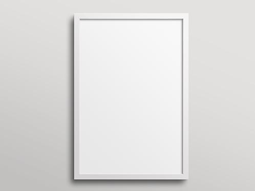 מסגרת עץ - לבן