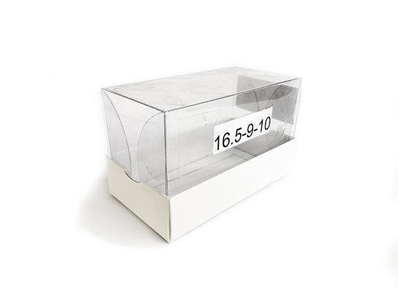 תחתית קרטון מכסה שקוף פנימי 16.5-9-10