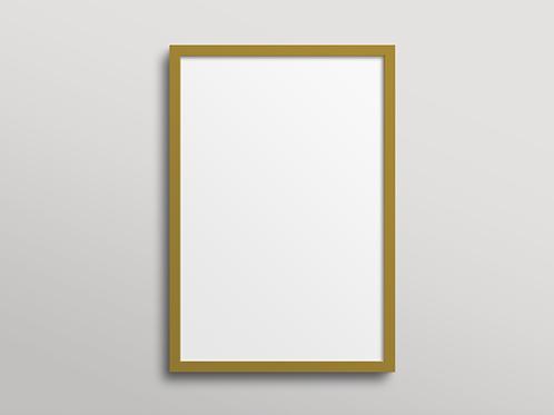 מסגרת עץ - זהב