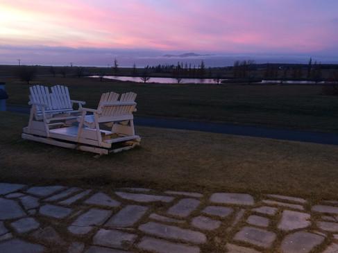 Et nos magnifiques couchers de soleil!