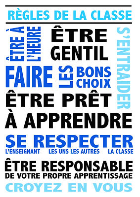 French classroom poster