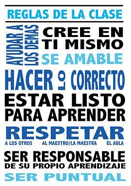 Spanish classroom poster
