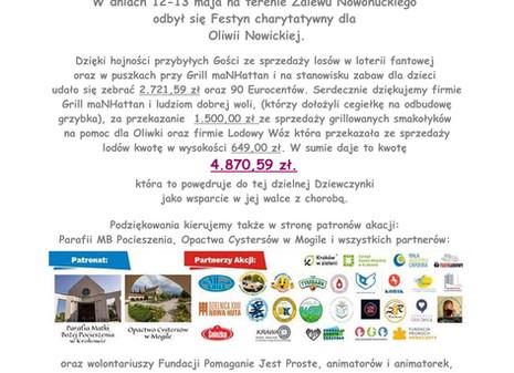 Festyn dobroczynny 12-13 maja