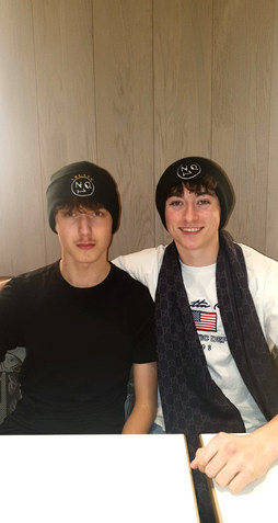 Matching The No1 Face beanie's