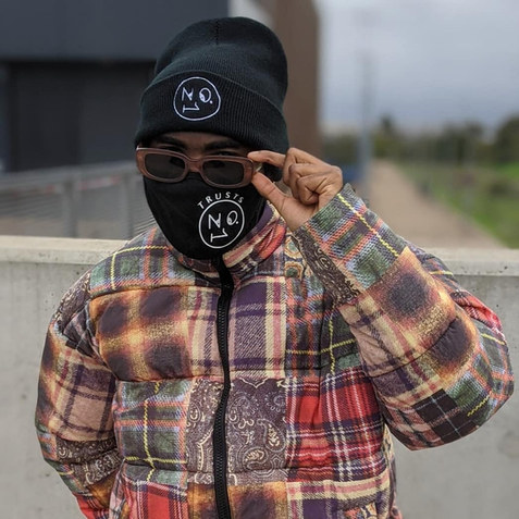 The No.1 Face beanie & #TrustsNo1 face mask