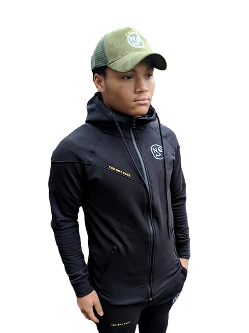 The No1 Face Tracksuit - Black