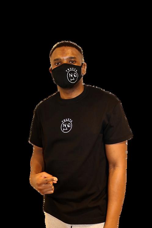 Reflective Trusts No.1 small logo black T Shirt