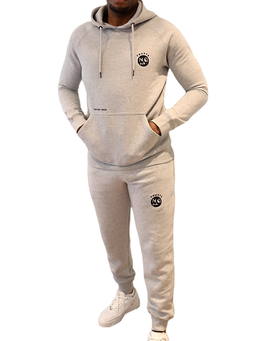 Trusts No.1 Unisex Hooded Tracksuit - Grey