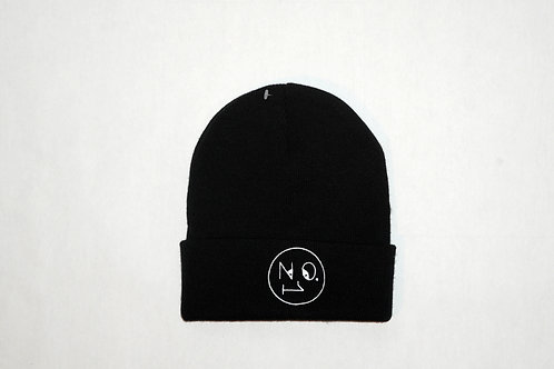 The No.1 Face Logo Beanie Hat - Black