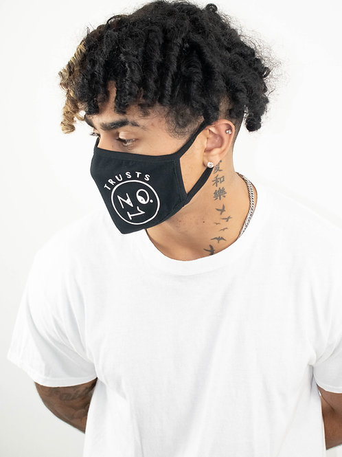 Face Mask #TrustsNo1- Black