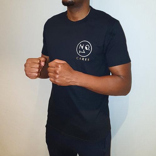 No.1 Cares small logo black T Shirt