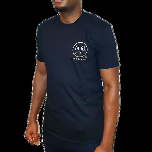 THE NO1 FACE logo T Shirt - Black