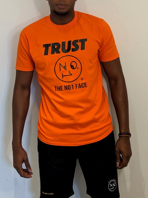 TRUST TN1F Tshirt - Orange/ Black