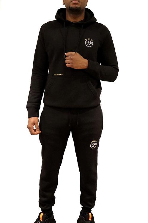 Trusts No.1 Unisex Hooded Tracksuit - Black